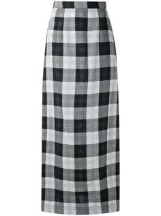 plaid maxi skirt Osklen