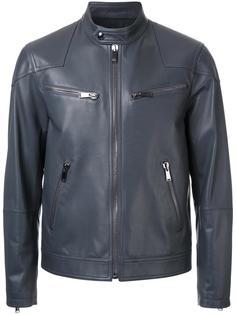 кожаная байкерская куртка Kent & Curwen