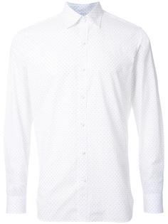поплиновая рубашка с мелким принтом стрел Kent & Curwen
