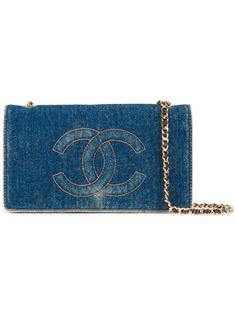 мини кошелек с логотипом 'CC' Chanel Vintage