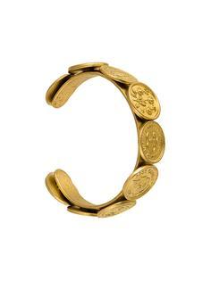 браслет с медальонами с логотипом 'CC' Chanel Vintage