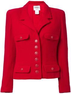 укороченный пиджак с кнопками с логотипом 'CC' Chanel Vintage