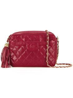 сумка на плечо с бахромой Chanel Vintage