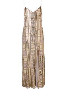 front slit long dress Baja East