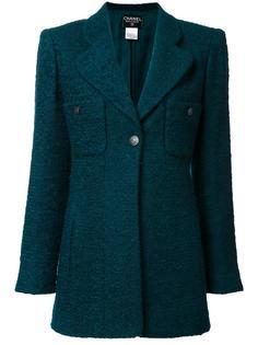 пиджак с застежкой на пуговицу Chanel Vintage