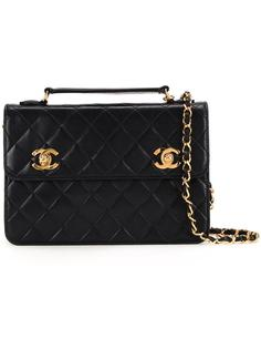сумка на плечо с логотипами 'CC' Chanel Vintage