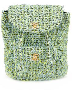маленький твидовый рюкзак  Chanel Vintage
