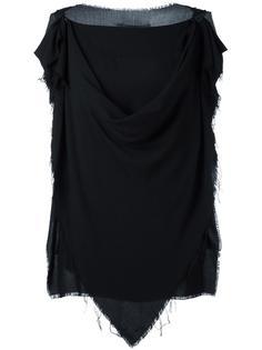 драпированная блузка без рукавов  Vivienne Westwood Anglomania