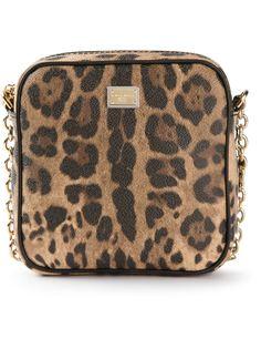 сумка на плечо с леопардовым принтом Dolce & Gabbana