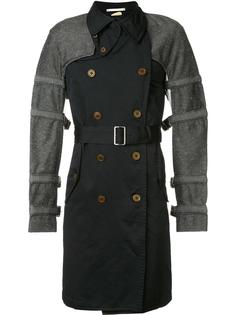 buckled bondage trench coat Comme Des Garçons Homme Plus