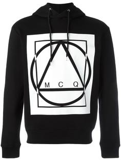glyph icon print hoodie McQ Alexander McQueen