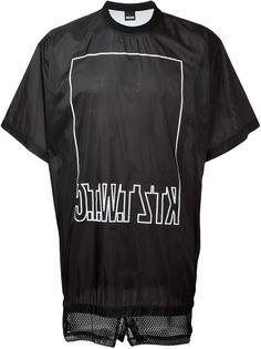 футболка с сетчатыми вставками KTZ