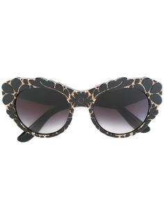 солнцезащитные очки с цветочным узором Dolce & Gabbana