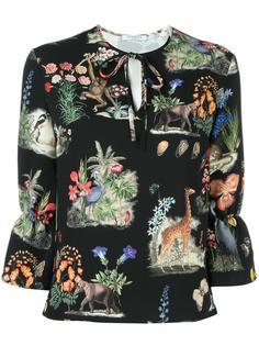 блузка с рисунком Vivetta