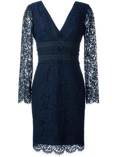 кружевное платье с глубоким V-образным вырезом Diane Von Furstenberg