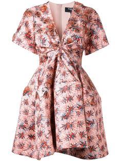 расклешенное платье со сборками Paule Ka