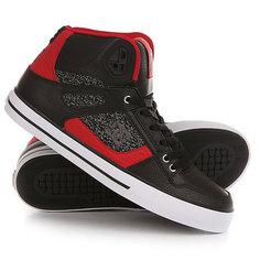 Кеды кроссовки высокие DC Spartan High Wc Black/Red