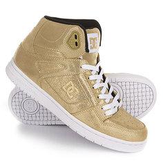 Кеды кроссовки высокие женские DC Rebound High Se Gold