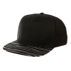 Бейсболка с прямым козырьком K1X Zebra Snapback Cap Black