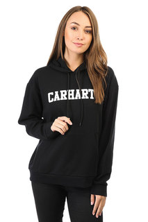 Толстовка кенгуру женская Carhartt Wip Hooded College Sweatshirt Black / White