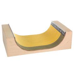 Фигура для фингерпарка Turbo-FB МиниРампа S Beige/Yellow/Green