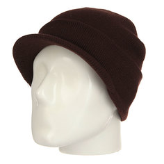 Шапка Yupoong Heavy Knit Visor Brown