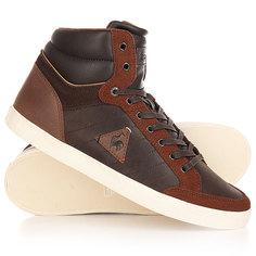 Кеды кроссовки высокие Le Coq Sportif Portalet Mid Craft Lea/Suede Reglisse/Mu