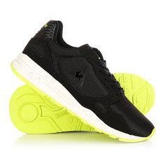 Кеды кроссовки низкие женские Le Coq Sportif Lcs R900 Gs Mesh Black/Safety Yellow