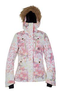 Куртка зимняя женская Rip Curl Chick Printed Jkt 3262 Optical White
