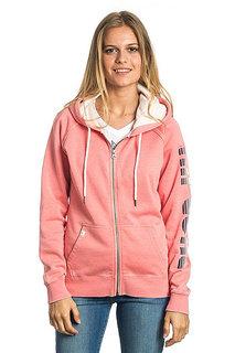 Толстовка классическая женская Rip Curl Active Logo Fleece Shell Pink