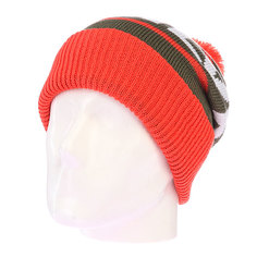 Шапка с помпоном Quiksilver Summit Beanie Mandarin Red