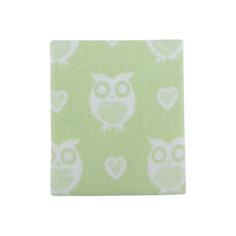 Одеяло байковое Совы 85х115, Baby Nice, салатовый