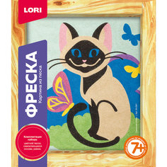"""Фреска-картина из песка """"Сиамская кошка"""" Lori"""
