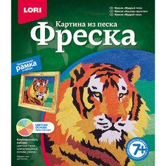 """Фреска-картина из песка """"Мудрый тигр"""" Lori"""