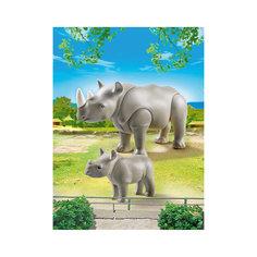 Зоопарк: Носорог с носорожком, PLAYMOBIL Playmobil®