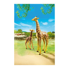 Зоопарк: Жираф со своим детенышем жирафом, PLAYMOBIL Playmobil®