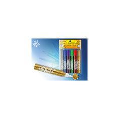 Гель с блестками для декорирования, 6 цветов по 10 мл Tukzar