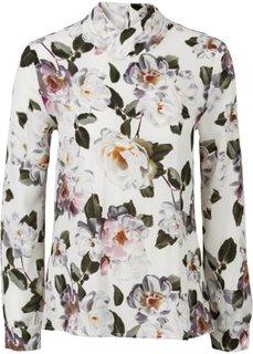 Блузка (черный в цветочек) Bonprix