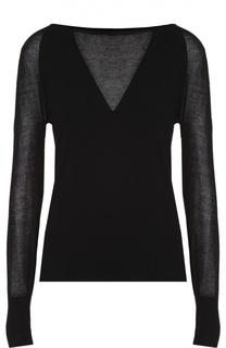 Пуловер с длинным рукавом и полупрозрачными вставками Escada