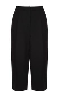 Укороченные брюки прямого кроя с шелковыми лампасами Valentino