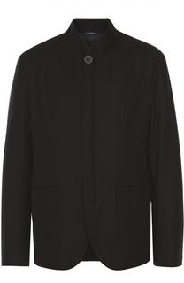 Куртка прямого кроя из смеси шерсти и кашемира Giorgio Armani