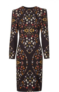 Платье-футляр с контрастным принтом Alexander McQueen