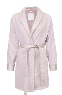 Хлопковый халат с карманами и поясом La Perla