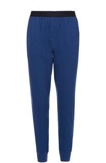 Хлопковые брюки на широкой резинке с манжетами Calvin Klein