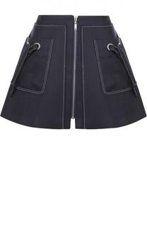 Мини-юбка на молнии с накладными карманами Kenzo