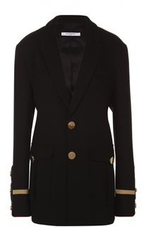 Жакет с контрастной отделкой и накладными карманами Givenchy