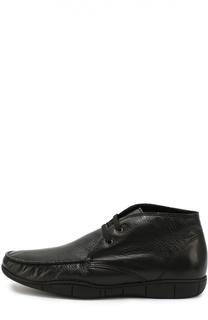 Кожаные ботинки на шнуровке A. Testoni