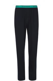 Хлопковые брюки на широкой резинке Emporio Armani