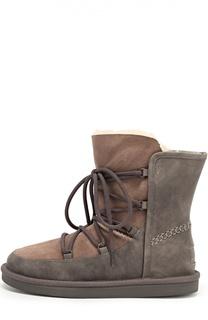 Комбинированные ботинки на шнуровке UGG Australia