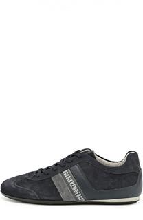 Замшевые кроссовки на шнуровке Dirk Bikkembergs